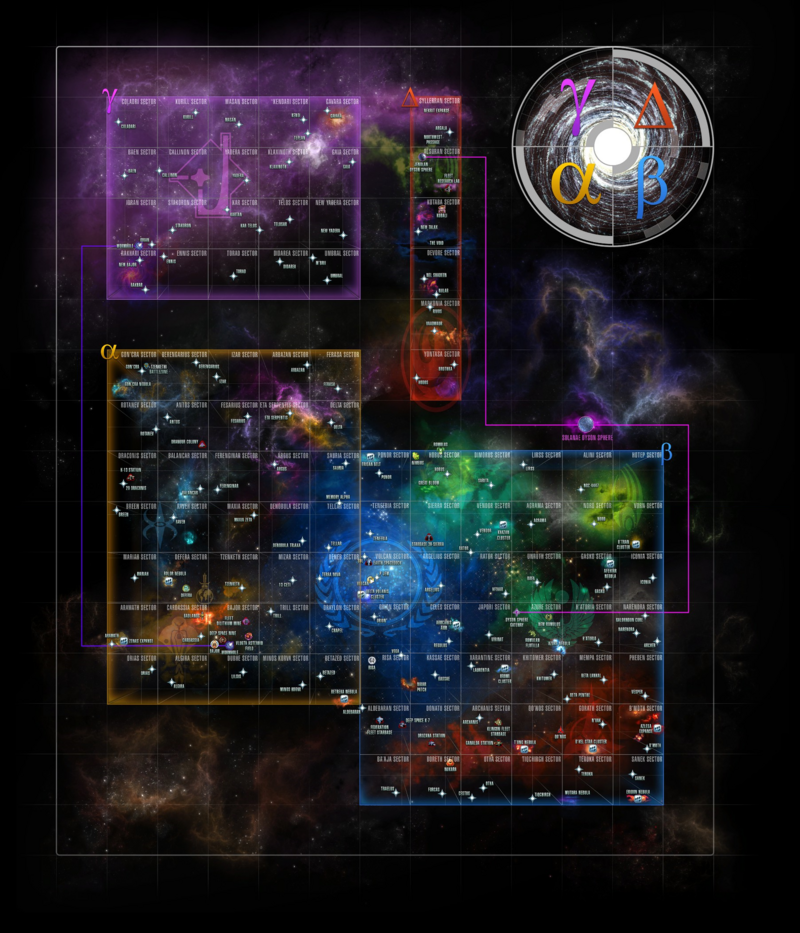 Map of all Sector space as of Victory is Life