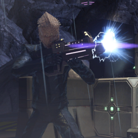 A Jem'hadar character going into battle to reclaim his life.