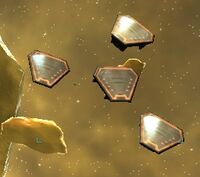 Escape pods in the Orias System.