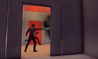 A TOS Starfleet character under Klingon attack