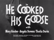 He Cookied His Goose