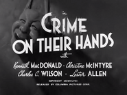 Crime on Their Hands