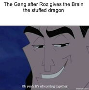 32. The Gang after Roz gives the Brain the stuffed dragon
