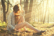 Dont be afraid - soaking in the woods how sad and sweet and pretty