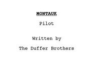 Montauk (Script Pilote)