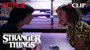 Mike trying to tell eleven that he LOVES HER stranger things