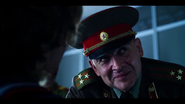 Gen Ozerov looking at the doctor
