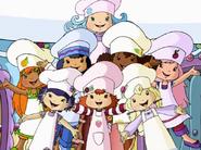 Group of baking girls