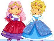 Princess crepe suzette and princess angel cake