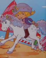 Angel cake riding milkshake