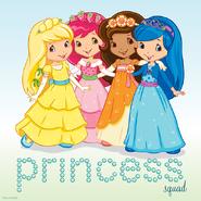 Lemon and strawberry and blueberry and orange princess dress
