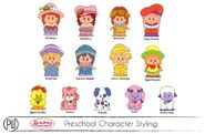 Unused concept art strawberry shortcake as little people (2)