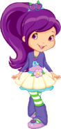 Plum with flower skirt