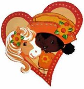 Orange blossom and pony heart