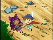 Brambleberry fairy and huck flying