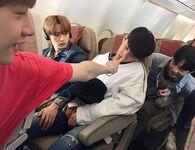 Bang Chan, Lee Know, Changbin and Hyunjin IG Update 180420 (1)