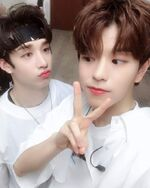 Seungmin and Bang Chan IG Update 180805 (2)