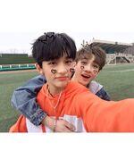 Bang Chan and Hyunjin IG Update 180401
