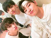 I.N, Hyunjin and Bang Chan IG Update 180505 (2)