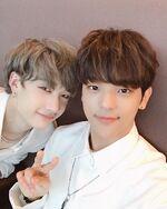 Woojin and Bang Chan IG Update 180914