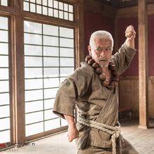 Street Fighter-- Assassin's Fist - Goutetsu fighting posture (Togo Iwaga).jpg