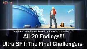 All 20 Endings!!! Ultra Street Fighter II The Final Challengers