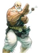 SFIV PC Concept Art Gouken 01