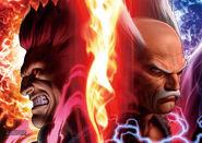 Akuma and Heihachi-Shinkiro