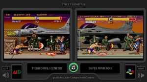Street Fighter II Turbo (Sega Genesis vs SNES) Side by Side Comparison