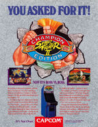 Street Fighter II - Champion Edition flyer