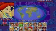 Selecting Akuma in Super Street Fighter II Turbo