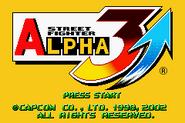 Street Fighter Alpha 3 Upper Title Screen