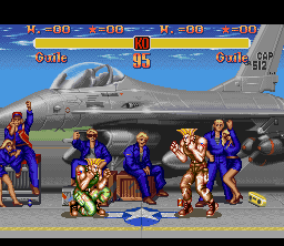 SSF2 SNES Guile Stage