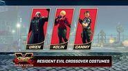 Street Fighter V- Arcade Edition - Resident Evil Costumes
