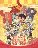 Capcom's 2019 New Year Poster V Nero Dante