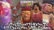 Ultra Street Fighter IV All Character Ultra Combos 1 & 2 【FULL HD】
