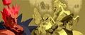Gouken, Goutetsu, and Bison in Street Fighter Alpha-1-