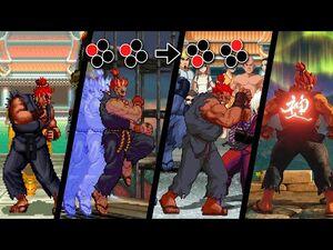 Evolution of Akuma's Shun Goku Satsu (1994-2020)