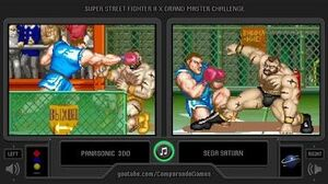 Super Street Fighter II X (3DO vs Sega Saturn) Side by Side Comparison