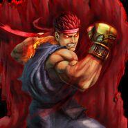 Super Street Fighter IV Arcade Edition Art Evil Ryu