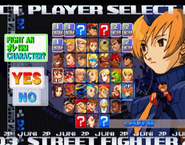 Street Fighter Zero 3 Upper Select Screen