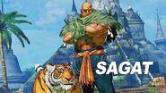 Street Fighter V- Arcade Edition - Sagat Gameplay Trailer