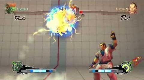 Super Street Fighter 4 - Blanka Ultra 1 Lightning Cannonball