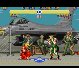 SF2 SNES Guile Stage