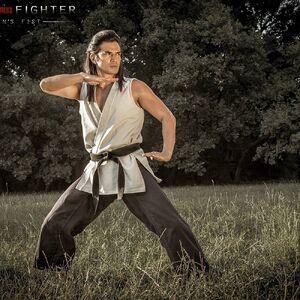 Street Fighter-- Assassin's Fist - young Gouken fighting posture (Shogen).jpg