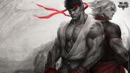 Sfv-ryu-and-ken-sfv-brotherhood-of-fury-by-artgerm