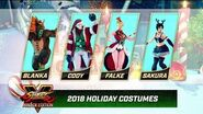 Street Fighter V- Arcade Edition - Holiday Costumes 2018