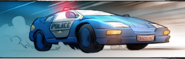 Wood Oak City Police Car
