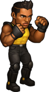 Adam Hunter Battle Pose SEGA Heroes