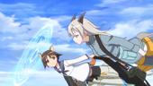 Yoshika shield and Eila flying